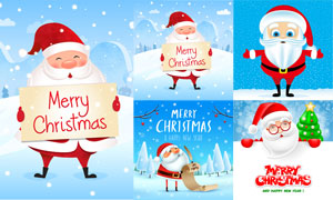 卡通可爱风格圣诞老人创意矢量素材