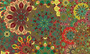 无缝抽象花纹图案背景创意矢量素材
