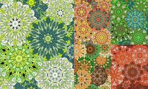鲜艳多彩无缝平铺图案背景矢量素材