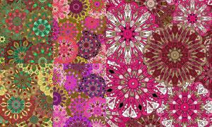 绚丽色彩四方连续抽象背景矢量素材