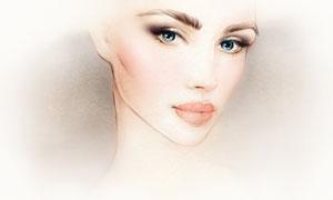 还原度较高的手绘美女人物高清图片