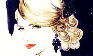 露背装扮红唇美女绘画创意 澳门线上必赢赌场