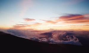 黄昏天空云彩霞光风景摄影高清图片