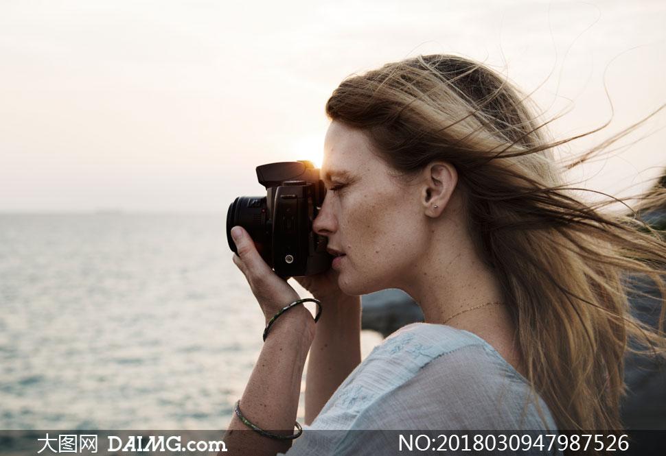 在拍摄海上高清的图片摄影美女美女美景臀翘25图片