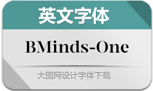 BMinds-One(英文字体)