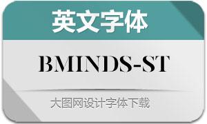 BMinds-Stencil(英文字体)