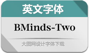 BMinds-Two(英文字体)