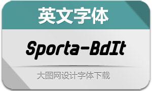 Sporta-BoldItalic(英文字体)