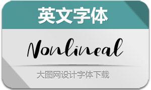 Nonlineal系列三款英文字体
