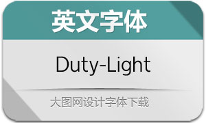 Duty-Light(英文字体)