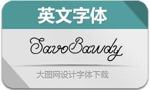 Savo-Bawdy(英文字体)