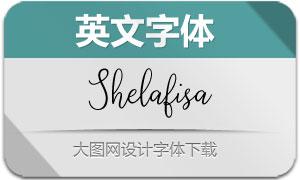 Shelafisa(英文字体)