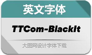 TTCommons-BlackItalic(英文字体)