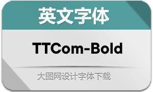 TTCommons-Bold(英文字体)