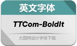 TTCommons-BoldItalic(英文字体)