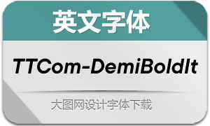 TTCommons-DemiBoldIt(英文字体)