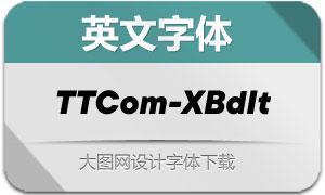 TTCommons-ExtraBoldIt(英文字体)