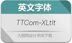TTCommons-ExtraLightIt(字体)