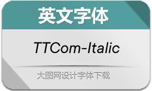 TTCommons-Italic(英文字体)