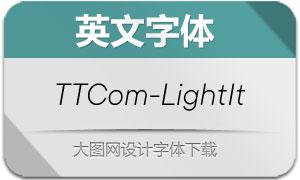 TTCommons-LightItalic(英文字体)