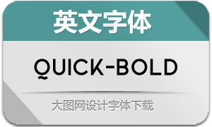 Quick-Bold(英文字体)