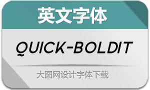 Quick-BoldItalic(英文字体)