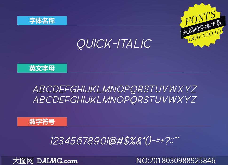 Quick-Italic(英文字体)
