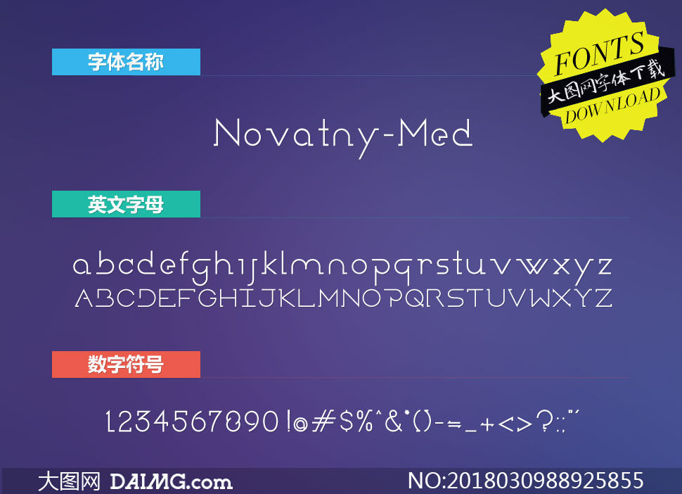 Novatny-Medium(英文字体)