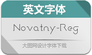 Novatny-Regular(英文字体)