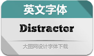 Distractor-Regular(英文字体)