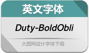 Duty-BoldOblique(英文字体)