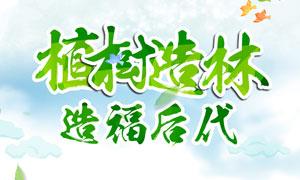 植树造林公益宣传海报PSD源文件