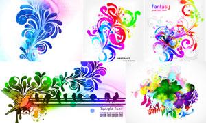 七彩缤纷效果花纹图案创意高清图片