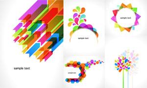 炫彩缤纷效果几何图形创意矢量素材