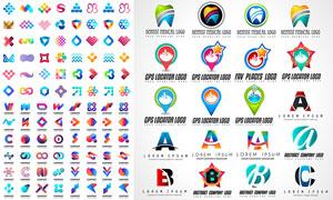 多彩缤纷几何抽象标志创意矢量素材