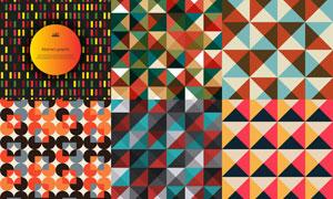 多彩几何图形抽象创意背景矢量素材