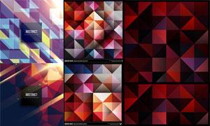 用光效元素点缀的几何背景矢量素材