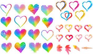 五彩缤纷效果彩虹图案创意矢量素材