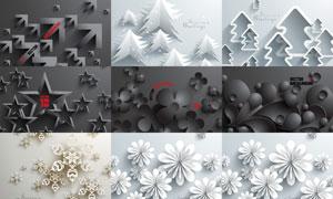 立体呈现的多组元素矢量素材集V01