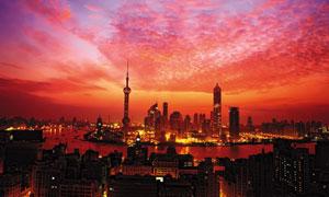 上海外滩夕阳美景摄影图片