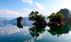越南三海湖美丽风景摄影图片