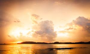 海边美丽的黄昏美景摄影图片