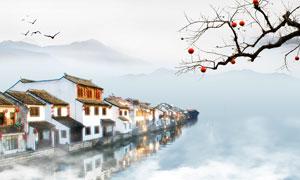 中国风江南水乡唯美意境图片素材
