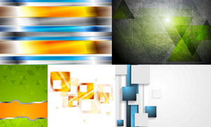 抽象几何图形元素背景创意矢量素材