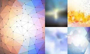 几何图案与点线等元素背景矢量素材