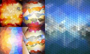 星光元素点缀抽象创意背景矢量素材