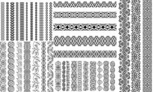 多种样式装饰分割线矢量素材集V01