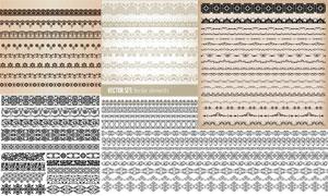 多种样式装饰分割线矢量素材集V02