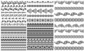 多种样式装饰分割线矢量素材集V06