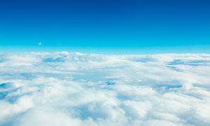 天空中美丽的云海高清摄影图片
